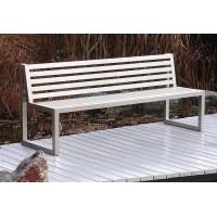 Ocelová lavička Sinus