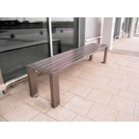 Ocelová lavička Strada