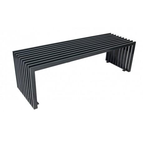Ocelová lavička saturn