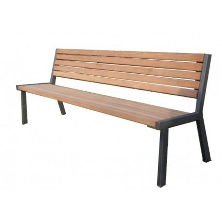 Kovová lavička Bozano